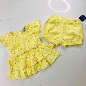 Habitual Girl Yellow Dress & Short Set